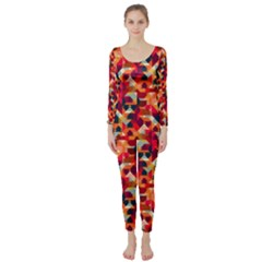 Modern Graphic Long Sleeve Catsuit by Alisyart