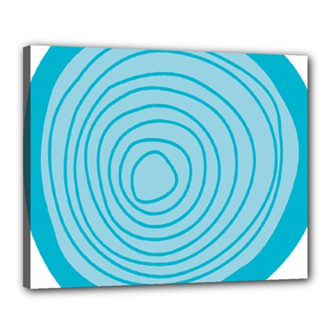 Mustard Logo Hole Circle Linr Blue Canvas 20  X 16
