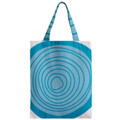 Mustard Logo Hole Circle Linr Blue Zipper Classic Tote Bag by Alisyart