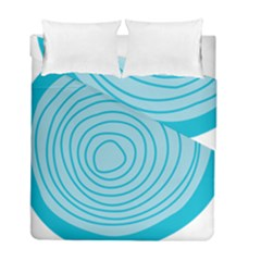 Mustard Logo Hole Circle Linr Blue Duvet Cover Double Side (full/ Double Size) by Alisyart