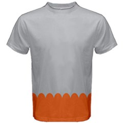 Orange Gray Scallop Wallpaper Wave Men s Cotton Tee