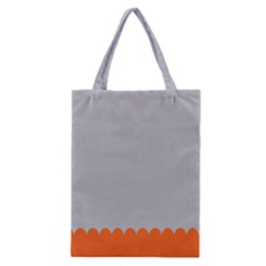 Orange Gray Scallop Wallpaper Wave Classic Tote Bag by Alisyart