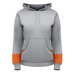 Orange Gray Scallop Wallpaper Wave Women s Pullover Hoodie