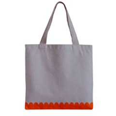 Orange Gray Scallop Wallpaper Wave Zipper Grocery Tote Bag by Alisyart
