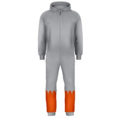 Orange Gray Scallop Wallpaper Wave Hooded Jumpsuit (men)