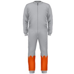 Orange Gray Scallop Wallpaper Wave Onepiece Jumpsuit (men)  by Alisyart