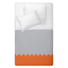Orange Gray Scallop Wallpaper Wave Duvet Cover (single Size) by Alisyart