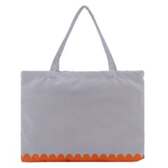 Orange Gray Scallop Wallpaper Wave Medium Zipper Tote Bag by Alisyart
