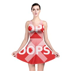 Oops Stop Sign Icon Reversible Skater Dress