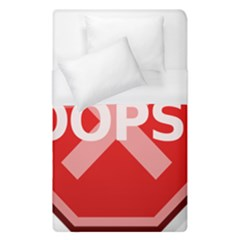Oops Stop Sign Icon Duvet Cover (single Size)