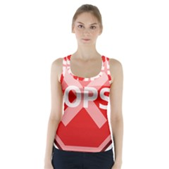 Oops Stop Sign Icon Racer Back Sports Top