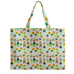 Kids Football Sport Ball Star Zipper Mini Tote Bag by Alisyart