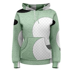 Golf Image Ball Hole Black Green Women s Pullover Hoodie