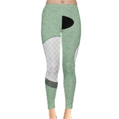 Golf Image Ball Hole Black Green Classic Winter Leggings
