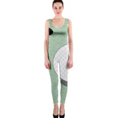 Golf Image Ball Hole Black Green Onepiece Catsuit by Alisyart