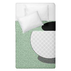 Golf Image Ball Hole Black Green Duvet Cover Double Side (single Size) by Alisyart