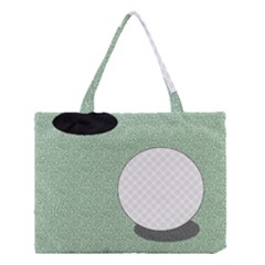 Golf Image Ball Hole Black Green Medium Tote Bag by Alisyart