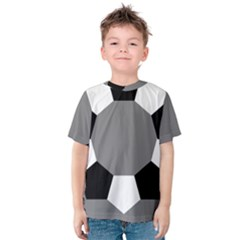 Pentagons Decagram Plain Black Gray White Triangle Kids  Cotton Tee by Alisyart