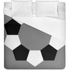 Pentagons Decagram Plain Black Gray White Triangle Duvet Cover (king Size) by Alisyart