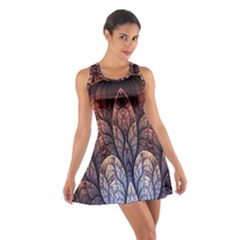 Abstract Fractal Cotton Racerback Dress