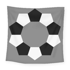 Pentagons Decagram Plain Black Gray White Triangle Square Tapestry (large)