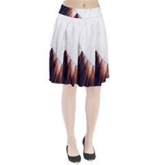 Abstract Lines Pleated Skirt