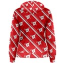 Panda Bear Face Line Red White Women s Pullover Hoodie View2