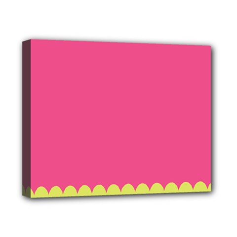 Pink Yellow Scallop Wallpaper Wave Canvas 10  X 8  by Alisyart