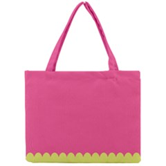 Pink Yellow Scallop Wallpaper Wave Mini Tote Bag