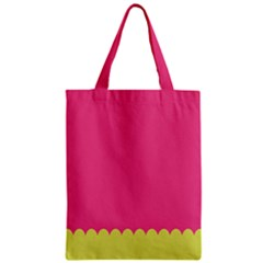 Pink Yellow Scallop Wallpaper Wave Classic Tote Bag by Alisyart