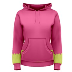 Pink Yellow Scallop Wallpaper Wave Women s Pullover Hoodie