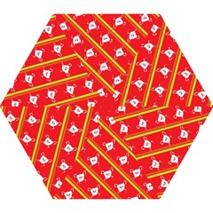Panda Bear Face Line Red Yellow Mini Folding Umbrellas by Alisyart