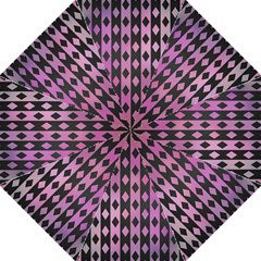 Old Version Plaid Triangle Chevron Wave Line Cplor  Purple Black Pink Hook Handle Umbrellas (large) by Alisyart