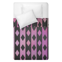 Old Version Plaid Triangle Chevron Wave Line Cplor  Purple Black Pink Duvet Cover Double Side (single Size) by Alisyart