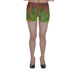 Abstract Trippy Bright Melting Skinny Shorts by Simbadda