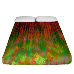 Abstract Trippy Bright Melting Fitted Sheet (california King Size)