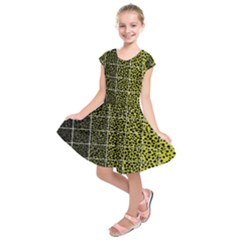 Pixel Gradient Pattern Kids  Short Sleeve Dress by Simbadda