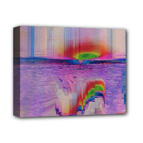 Glitch Art Abstract Deluxe Canvas 14  X 11  by Simbadda