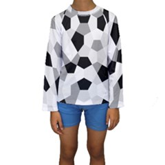 Pentagons Decagram Plain Triangle Kids  Long Sleeve Swimwear by Alisyart