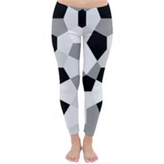 Pentagons Decagram Plain Triangle Classic Winter Leggings