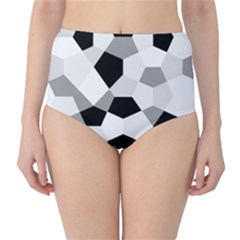 Pentagons Decagram Plain Triangle High Waist Bikini Bottoms by Alisyart