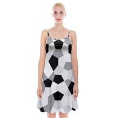 Pentagons Decagram Plain Triangle Spaghetti Strap Velvet Dress