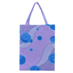 Purple Wave Circle Blue Classic Tote Bag by Alisyart
