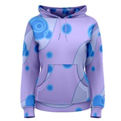 Purple Wave Circle Blue Women s Pullover Hoodie