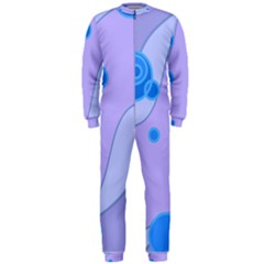 Purple Wave Circle Blue Onepiece Jumpsuit (men)