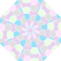 Pineapple Puffle Blue Pink Green Purple Folding Umbrellas by Alisyart
