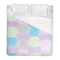 Pineapple Puffle Blue Pink Green Purple Duvet Cover (full/ Double Size) by Alisyart
