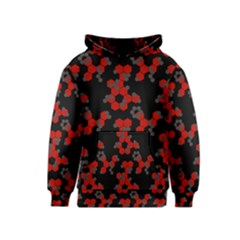 Red Digital Camo Wallpaper Red Camouflage Kids  Pullover Hoodie