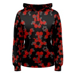 Red Digital Camo Wallpaper Red Camouflage Women s Pullover Hoodie