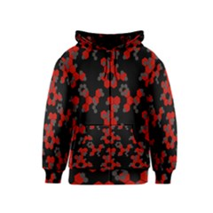 Red Digital Camo Wallpaper Red Camouflage Kids  Zipper Hoodie